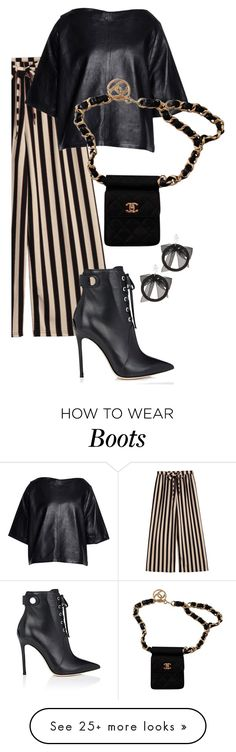 """""""Untitled #917"""" by meryaaa on Polyvore featuring Isabel Marant, Chanel, Fallon and Gianvito Rossi"""