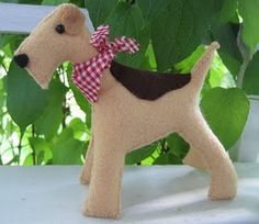 felt dog -my son would love this!