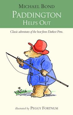 Paddington Helps Out by Michael Bond. During his first trip to the cinema Paddington accidentally upsets the entire audience by standing up and booing the bad guy. He also drips some of his ice cream on to other movie goers. Other incidents that occur in the book see Paddington flooding the launderette and messing-up Mr. Curry's kitchen. All are done with great humor and in the end things turn-out all right. A funny addition to the series. For ages three and up.