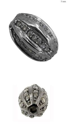 Findings and Stampings 165142: 7Mm Diamond Pave Spacer Bead 925 Sterling Silver Vintage Inspire Finding Jewelry -> BUY IT NOW ONLY: $64 on eBay!