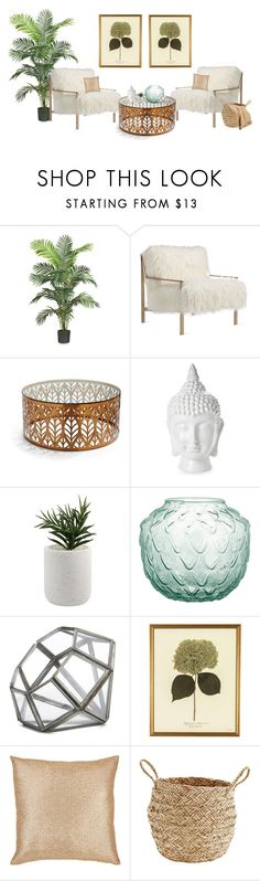 """""""Untitled #656"""" by sophiatsunis on Polyvore featuring interior, interiors, interior design, home, home decor, interior decorating, Nearly Natural, Axel, Frontgate and Home Essentials"""