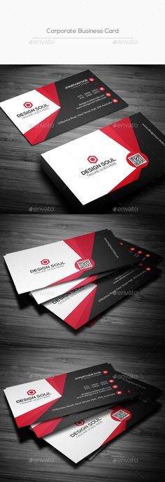 Corporate Business Card Template PSD #design #visitcard Download: http://graphicriver.net/item/corporate-business-card/13603789?ref=ksioks