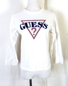 ff3073158 vtg 80s 90s Guess by Georges Marciano LS T-Shirt youth M