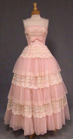 vintage pink formal