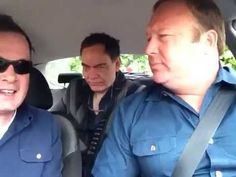 Artist Taxi Driver meets Alex Jones & Max Keiser at Bilderberg 2013