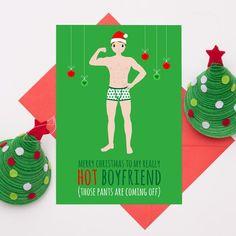 LGBT Gay Pride Christmas Card Ho Ho Homo Funny Humour Cheeky Boyfriend Friend...