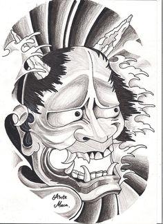 Hannya Mask - by mcxr.deviantart.com on @deviantART