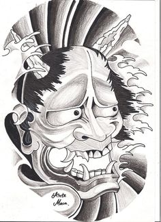 Hannya Mask By Mcxr Designs Interfaces Tattoo Design 2010 2012 A
