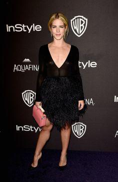 Emily Bett Rickards à l'afterparty des Golden Globes