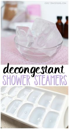 Make some ice cube tray decongestant shower steamers for cold relief., DIY and Crafts, Make some ice cube tray decongestant shower steamers for cold relief. Just make a batch up for the freezer and pop one in the shower when you feel sic. Diy Spa, Mason Jar Crafts, Mason Jar Diy, Diy Home Decor Projects, Diy Projects To Try, Recycling Projects, Garden Projects, Page Web, Shower Steamers