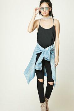 Shirred Chiffon Bodysuit