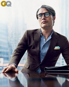 Mads Mikkelsen GQ - guilty crush, this guy 'gives me the willies' but he's fabulous!