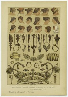 Roman jewelry and hairstyles