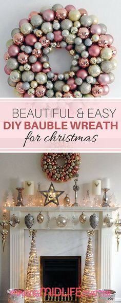 How to make cinnamon pinecones pinterest pinecone holidays and this beautiful diy bauble wreath is easy to make and can be customized to fit any decor and will look fabulous in every season solutioingenieria Choice Image
