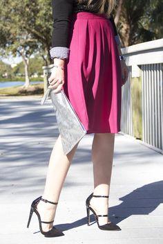 Fuchsia Skirt – Living In Color Print