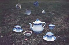 Alice // alice in wonderland. tea in blue, the colour of communication. Alice In Wonderland Aesthetic, Adventures In Wonderland, Wonderland Alice, Wonderland Tattoo, Wonderland Party, Jervis Tetch, Lizzie Hearts, Chesire Cat, Alice Liddell