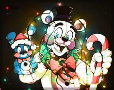 Merry Christmas from Bon Bon and Fred Fred Me: aw thank you lads! Merry Christmas *gives bon bin and Fred Fred a gift each* Five Nights At Freddy's, Good Horror Games, Rpg Horror Games, Freddy S, Toy Bonnie, Vocaloid, Fnaf Sl, Fnaf Drawings, Funtime Foxy