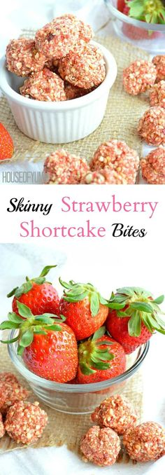 Skinny Strawberry Shortcake Bites are the perfect healthy snack.