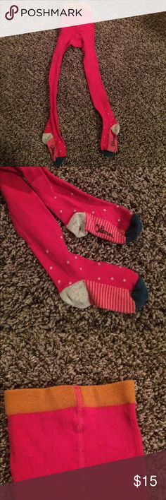 Catimini Heavy Weight Dark Pink Tights Never worn, like new condition. Perfect for cool days! 2T-3T depending on height. Catimini Accessories Socks & Tights