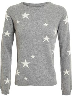 CHINTI AND PARKER Star Patterned Cashmere Jumper