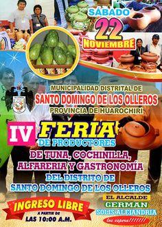 Festival de la Tuna y Ollas de Barro en el distrito de Santo Domingo de los Olleros, provincia de Huarochirí - Lima
