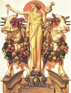 "J. C. Leyendecker - ""Goddess Diana"" painting for Saturday Evening Post Magazine cover (November 23, 1929)"