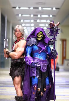 He Man and Skeletor 2014 Phoenix Comicon (PCC) by gbrummett, via Flickr