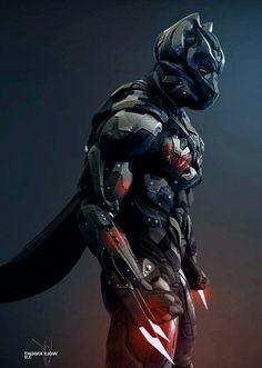 Robot Concept Art, Armor Concept, Robot Militar, Wolf Knight, Armadura Cosplay, Character Art, Character Design, Alternative Comics, Cool Swords