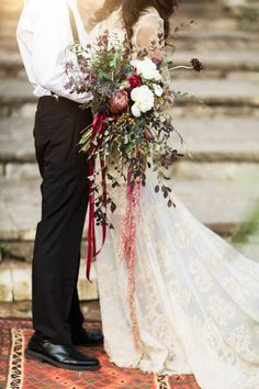 Wild fall wedding bouquet   Image by Holly Kringer Photography