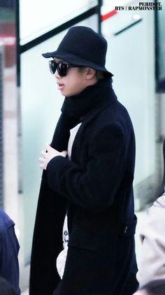 Rap Monster ❤ BTS at Gimpo Airport heading to Japan #BTS #방탄소년단
