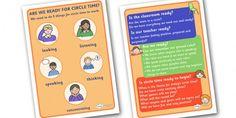 Circle Time Information Posters - circle, time, circle time, information, info, poster, sign, display, rules, rule, SEN, behaviour management, PSHE, SEAL, carpet time, circle, good sitting