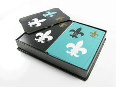 Vintage Fleur de Lis Playing Cards Double Deck in by MyChouchou, $18.50