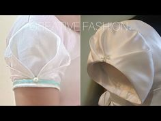 Very Beautiful Origami Sleeve cutting,stitching हिंदी में। - नमस्ते Gathered Tulip Sleeve ka look beautiful n cool he aap ise blouse,kurti,dress,churidar me attatch kr skte ho. Gathered Tulip Sleeve Cutting Stitching k… Simple Blouse Designs, Stylish Blouse Design, Saree Blouse Neck Designs, Kurti Neck Designs, Sleeve Designs, Kurti Sleeves Design, Sleeves Designs For Dresses, Dress Designs, Sari Design