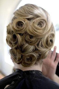 Updo pin curls