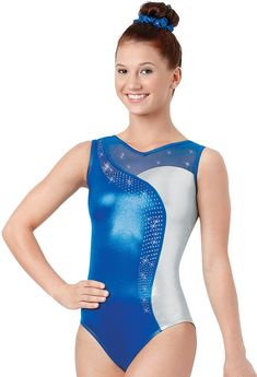 df1fd67e6329 Long-Sleeve Swirl Gymnastics Leotard
