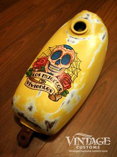 Los Muertos Vivientes - 650 Rat-Rod gas tank artwork