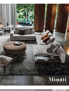 Minotti Sofa--this would look so great in our living room. Living Room Modern, Living Room Sofa, Living Room Interior, Home Living Room, Living Room Designs, Living Room Decor, Living Spaces, Interior Architecture, Interior Design