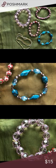 5 Handmade Bracelets Bundle 5 Handmade Bracelets Bundle.   Handmade by LadyRose  NWT. Bundle 2 LadyRose  Jewelry Bracelets