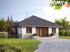 Projekt domu MT Elka 2 paliwo stałe CE - DOM - gotowy koszt budowy House Plans Mansion, New House Plans, Dream House Plans, Small House Plans, Modern Bungalow House, Bungalow Homes, House Layout Plans, House Layouts, Model House Plan