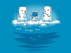 Tee turtle polar bear