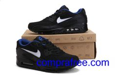 Comprar barato hombre Nike Air Max Zapatillas (color:blanco,negro,azul) en linea en Espana. Air Max 90, Nike Air Max, Air Max Sneakers, Sneakers Nike, Zapatillas Nike Air, Color, Shoes, Fashion, Black White