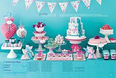 Vintage Dessert Table for Brides Magazine