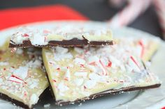 This classic peppermint bark has layers of dark chocolate, white chocolate and crushed candy canes. | browneyedbaker.com
