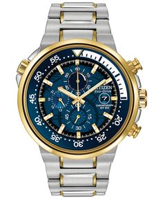 Citizen Men's Chronograph Endeavor Eco-Drive Two-Tone Stainless Steel Bracelet Watch 46mm CA0444-50L - Watches - Jewelry & Watches - Macy's