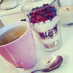Parfait & tea. Sounds good to me!! (: