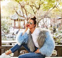 Photos of Victoria's Secret models Alessandra Ambrosio, Josephine Skriver, Ming Xi and Sui He in Shanghai. Fur Fashion, Fashion Week, Winter Fashion, Fashion Outfits, Alessandra Ambrosio, Toni Garrn, Anja Rubik, Photoshoot Inspiration, Mode Inspiration