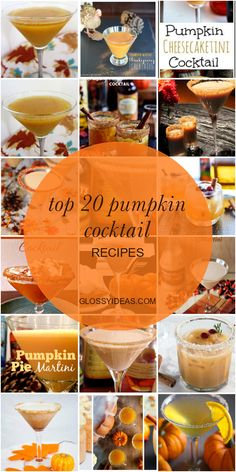 Top 20 Pumpkin Cocktail Recipes Cocktail Recipes For A Crowd, Food For A Crowd, Pumpkin Cocktail, Amaretto Recipe, Fall Cocktails, Pumpkin Puree, Recipe Collection, Vodka, Alcoholic Drinks