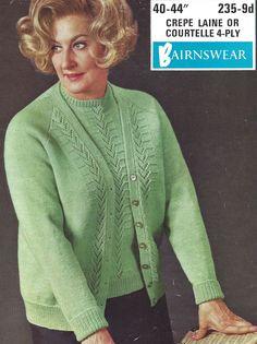 Cardigan Pattern, Knit Cardigan, Open Cardigan, Aran Knitting Patterns, Sweaters For Women, Men Sweater, Knit Crochet, Knitwear, Vintage Fashion
