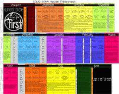 Customizable School Year Curriculum Planner