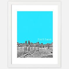 Portland Skyline Print now featured on Fab.